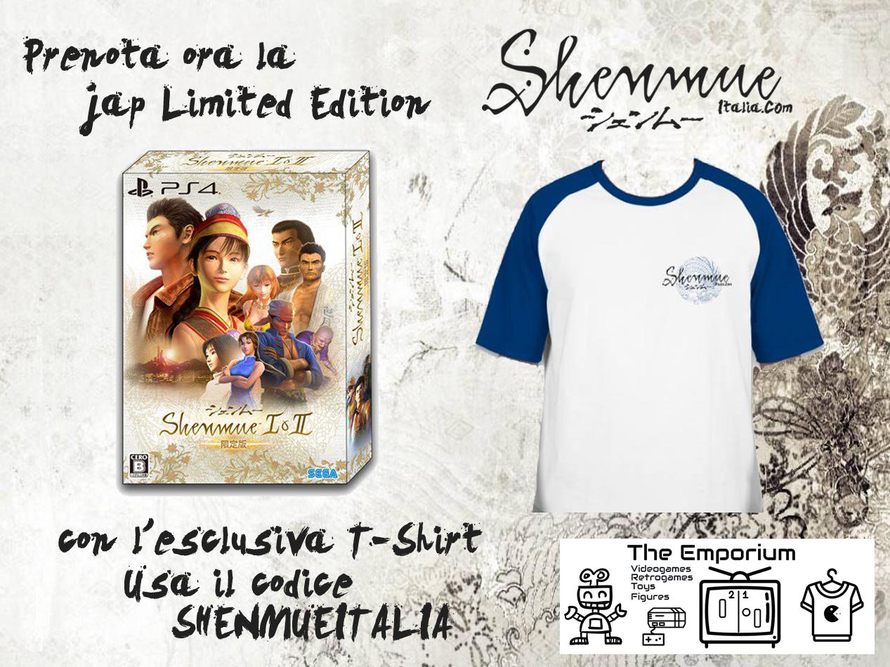 Acquista Shenmue 1&2 Limited Edition con inclusa la nostra esclusiva T-Shirt!