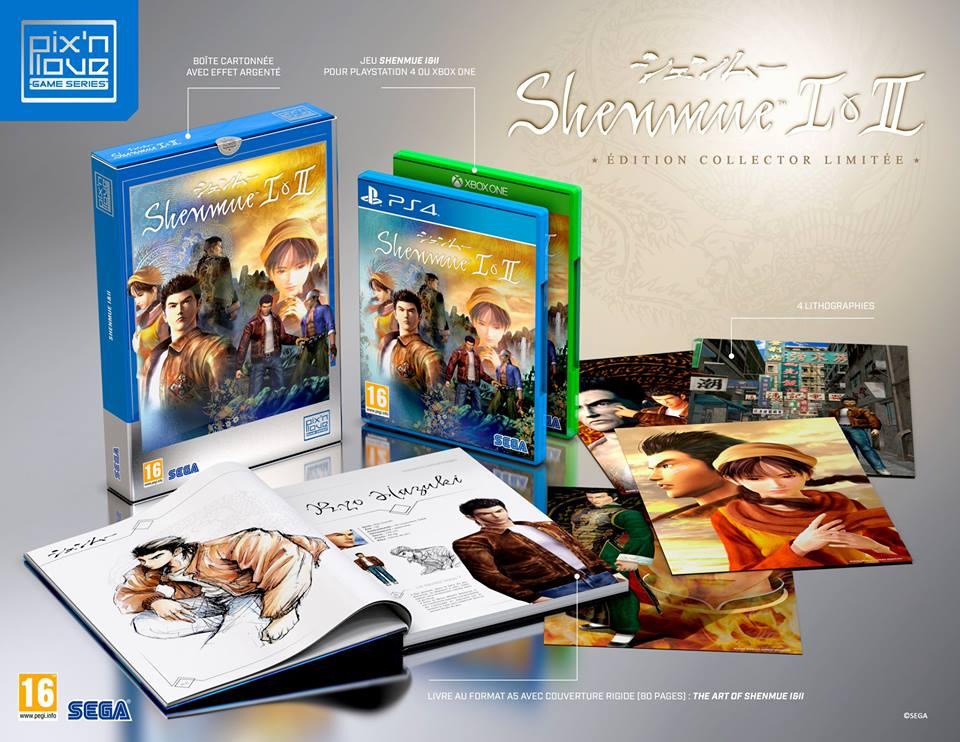 Pix'n love annuncia un edizione limitata di Shenmue 1&2 per l'europa