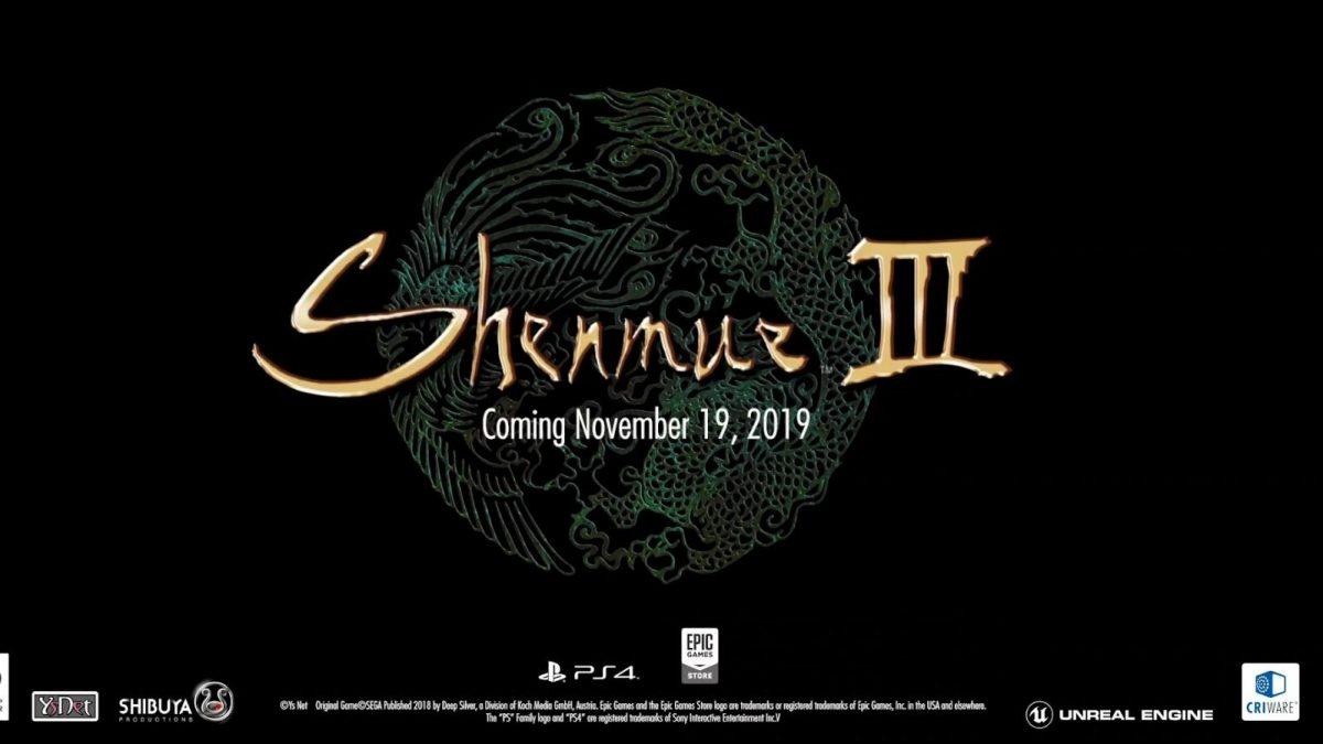 Shenmue 3 sarà una esclusiva Epic Games Store su PC – Aggiornamento Kickstarter #102