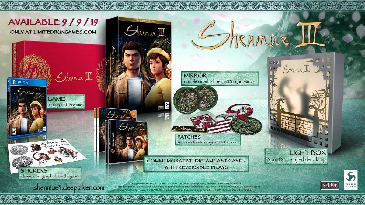 Shenmue 3 – La Collector Edition americana conterrá un'esclusiva custodia dreamcast