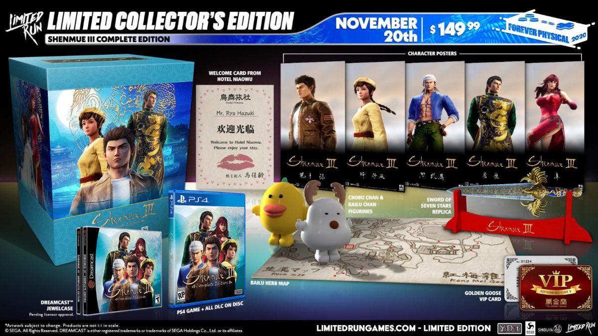 Annunciata l'esclusiva Shenmue III Complete Edition prodotta da Limited Run Games